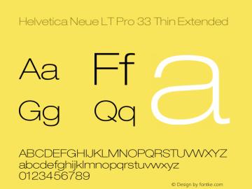Helvetica Neue LT Pro Font,HelveticaNeueLTPro-ThEx Font