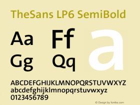 TheSans-LP6SeBld Version 1.6411 2010图片样张