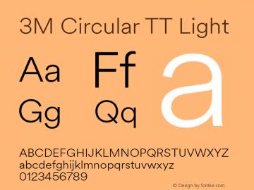 3M Circular TT Font,3MCircularTT-Light Font,3M Circular TT Light