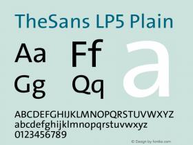 TheSans-LP5Plain Version 1.6411 2010图片样张