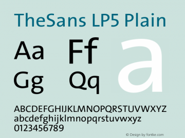 TheSans-LP5Plain Version 1.6411 2010图片样张