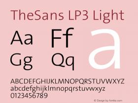 TheSans-LP3Lig Version 1.6411 2010图片样张
