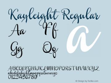 Kayleight Regular Version 1.000图片样张