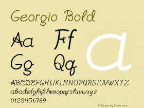 Georgio-Bold Version 1.000图片样张