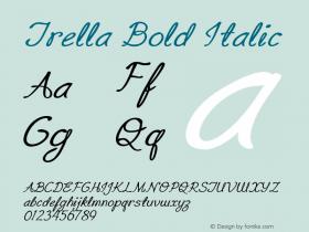 Trella-BoldItalic Version 1.000图片样张