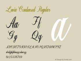 Luvia-CondensedRegular Version 1.000图片样张