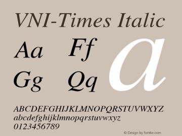 VNI-Times-Italic 1.0 Tue Jan 18 18:00:08 1994图片样张