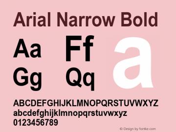 Arial Narrow Bold Version 2.20图片样张