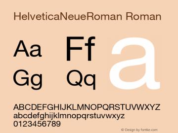 HelveticaNeueRoman Roman Macromedia Fontographer 4.1.5 12/21/07图片样张