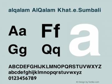 alqalam Font,AlQalam Khat-e-Sumbali Font,Urdu Web Naskh Font