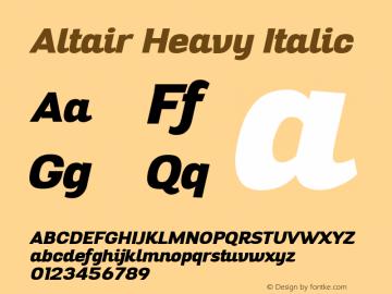 Altair-HeavyItalic Version 1.000图片样张