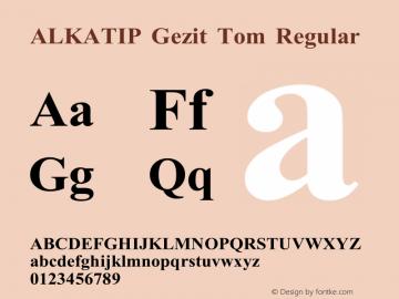 ALKATIP Gezit Tom Version 5.00 August 12, 2015图片样张