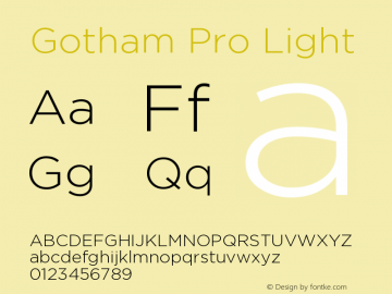 GothamPro-Light Version 1.100; Cyrillic Support图片样张