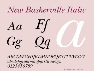 ITC New Baskerville Italic 1.0 Mon Jun 09 11:26:30 1997图片样张