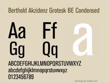 Berthold Akzidenz Grotesk BE Font,AkzidenzGroteskBE-Cn Font