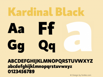 Kardinal-Black Version 1.000;PS 001.000;hotconv 1.0.88;makeotf.lib2.5.64775图片样张
