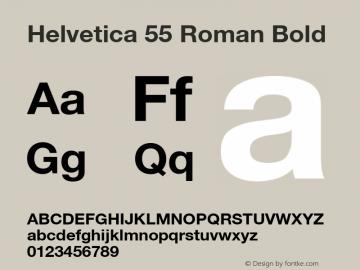 Helvetica 55 Roman Bold 001.102图片样张
