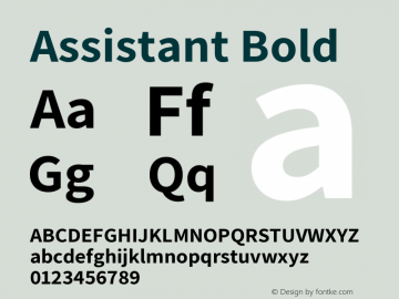 Assistant Bold Version 2.001图片样张