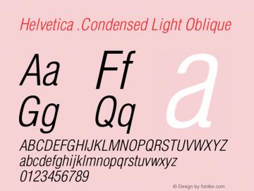 Helvetica-Condensed-LightObl Version 001.001图片样张