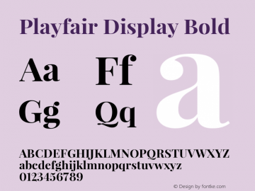 Playfair Display Bold Version 1.000图片样张