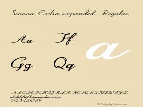 Swoon-ExtraexpandedRegular Version 1.000图片样张