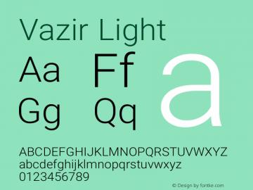 Vazir Light Version 9-beta图片样张
