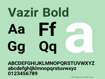Vazir Bold Version 9-beta图片样张