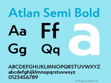 Atlan-SemiBold Version 1.000;PS 001.000;hotconv 1.0.88;makeotf.lib2.5.64775图片样张
