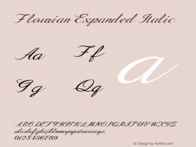 Flourian-ExpandedItalic Version 1.000图片样张