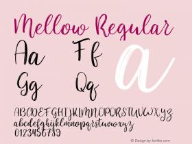 Mellow-Regular Version 1.000图片样张