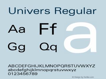Univers 53 Extended Version 001.001 Font Sample