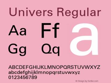 Univers Macromedia Fontographer 4.1.2 1956.08.28 Font Sample