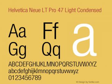 HelveticaNeueLTPro-LtCn Version 1.000;PS 001.000;Core 1.0.38图片样张