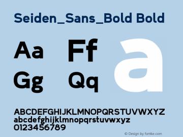 Seiden_Sans_Bold Version 1.0图片样张