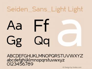 Seiden_Sans_Light Version 1.0图片样张