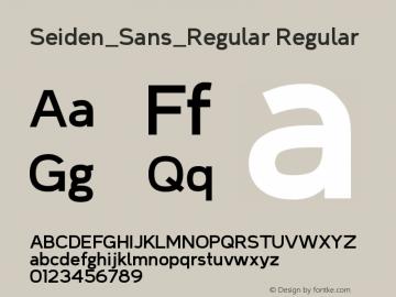 Seiden_Sans_Regular Version 1.0图片样张