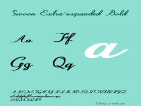 Swoon-ExtraexpandedBold Version 1.000图片样张