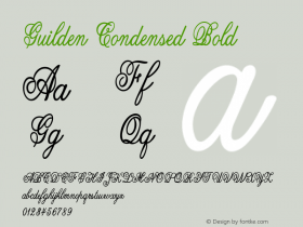 Guilden-CondensedBold Version 1.000图片样张