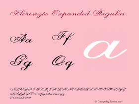 Florenzio-ExpandedRegular Version 1.000图片样张