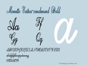 Monetto-ExtracondensedBold Version 1.000图片样张