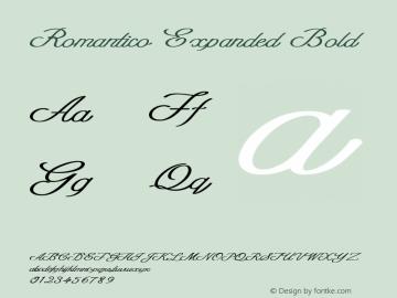 Romantico-ExpandedBold Version 1.000图片样张