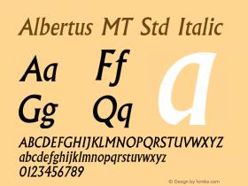 AlbertusMTStd-Italic OTF 1.029;PS 001.001;Core 1.0.33;makeotf.lib1.4.1585图片样张