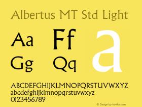 AlbertusMTStd-Light OTF 1.029;PS 001.001;Core 1.0.33;makeotf.lib1.4.1585图片样张
