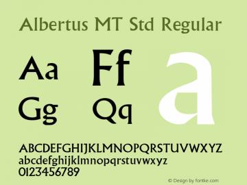 AlbertusMTStd OTF 1.029;PS 001.001;Core 1.0.33;makeotf.lib1.4.1585图片样张
