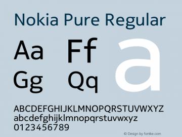 Nokia Pure  Font Sample