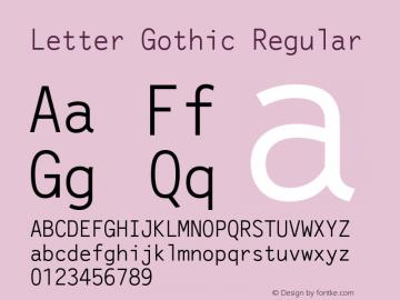 Letter Gothic Version 1.21图片样张