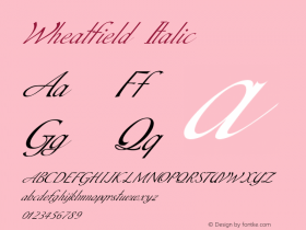 Wheatfield-Italic Version 1.000图片样张