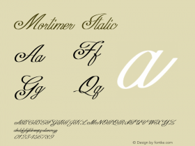 Mortimer-Italic Version 1.000图片样张