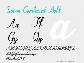 Swoon-CondensedBold Version 1.000图片样张