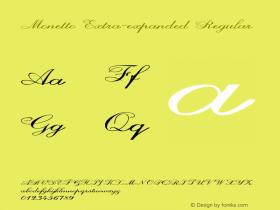 Monetto-ExtraexpandedRegular Version 1.000图片样张